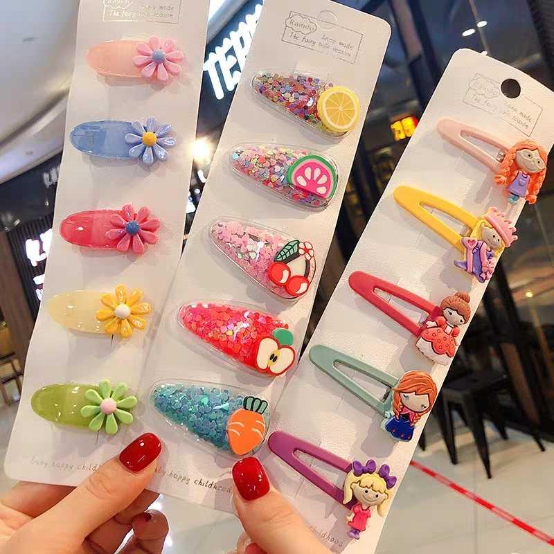 1 conjunto bonito princesa frutas grampos de cabelo crianças grampos de cabelo pinos barrette acessórios para mulheres menina hairgrip headwear