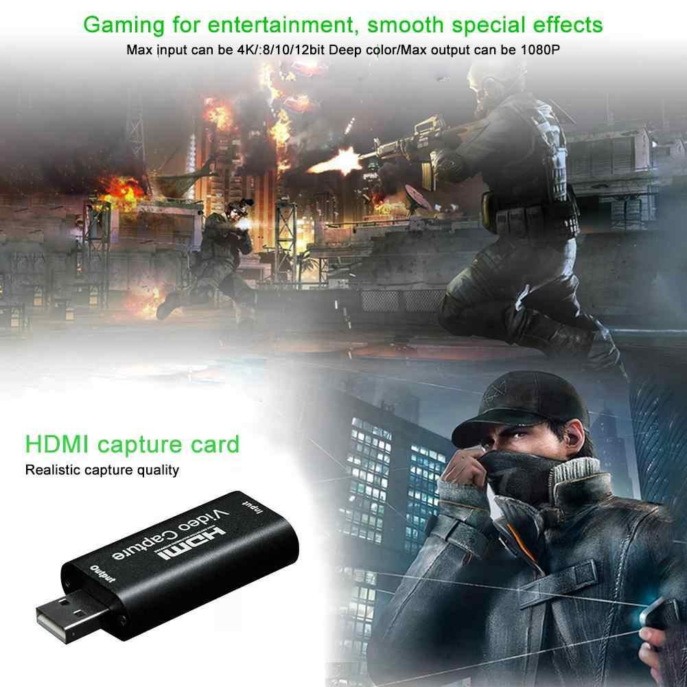 비디오 캡처 카드 USB 3.0 2.0 IOS/Type-C HDMI Box For PS4 게임 캠코더 HD 카메라 녹화 라이브 스트리밍 VHS 보드 캡처