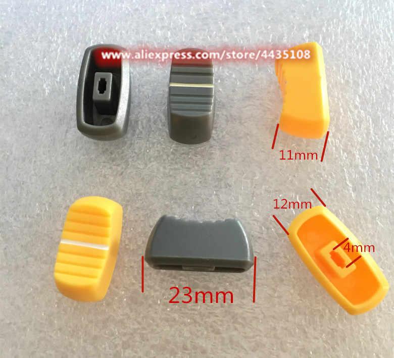 Plastic 24mm Knob Volume Rotary Switch 6mm Potentiometer Sound Orange Control
