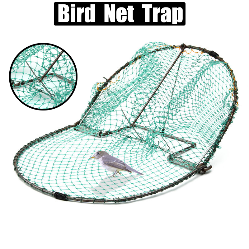 12inch Bird Net Effective Humane Live Trap Hunting Sensitive Quail Humane Trapping Hunting 300mm Pest Control Garden Supplies