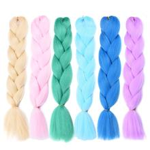 25 Colors 60CM Women Jumbo Crochet Braiding Ombre Color Synthetic Kanekalon