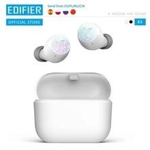 EDIFIER — Écouteurs Bluetooth v5.0 TWS X3, oreillettes, contrôle tactile, assistant vocal (noir en édition limitée)