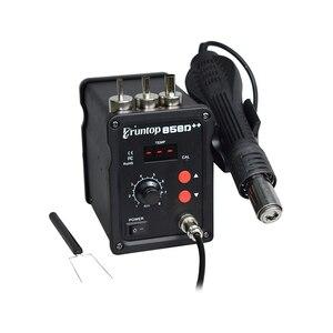 Image 5 - Паяльная станция Eruntop 858D + + SMD ESD, 110 В/220 В, 700 Вт, СВЕТОДИОДНЫЙ Цифровой паяльник, пистолет горячего воздуха, паяльник обновленный 858D