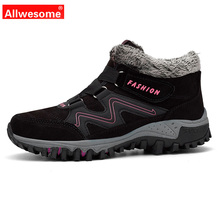 Allwesome Women Shoes Man 2019 Winter Fashion Snows Australia Boots Ankle Warm Plush Platform Outdoor Sport Plus Size 5-11