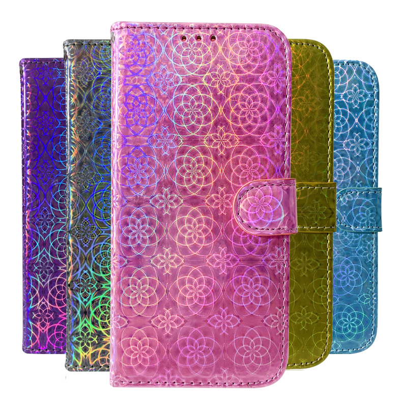 Leather Laser Fluorescent Flip Wallet Phone <font><b>Case</b></font> For <font><b>Nokia</b></font> 6.2 3.1 5.1 6.1 <font><b>7.1</b></font> 7.2 4.2 3.2 2.2 1 3.1 Plus Smartphone <font><b>Case</b></font> Cover image