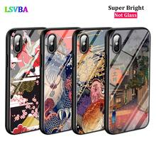 Black Cover Japanese Art for iPhone X XR XS Max for iPhone 8 7 6 6S Plus 5S 5 SE Super Bright Glossy Phone Case black cover japanese art for iphone x xr xs max for iphone 8 7 6 6s plus 5s 5 se super bright glossy phone case