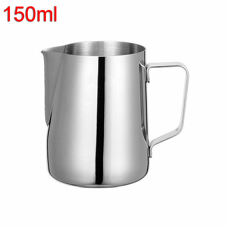 1 Pc Stainless Steel Milk Frothing Jug Cup Mug Coffee Latte Pitcher Container Kitchen Dining Bar Supplies
