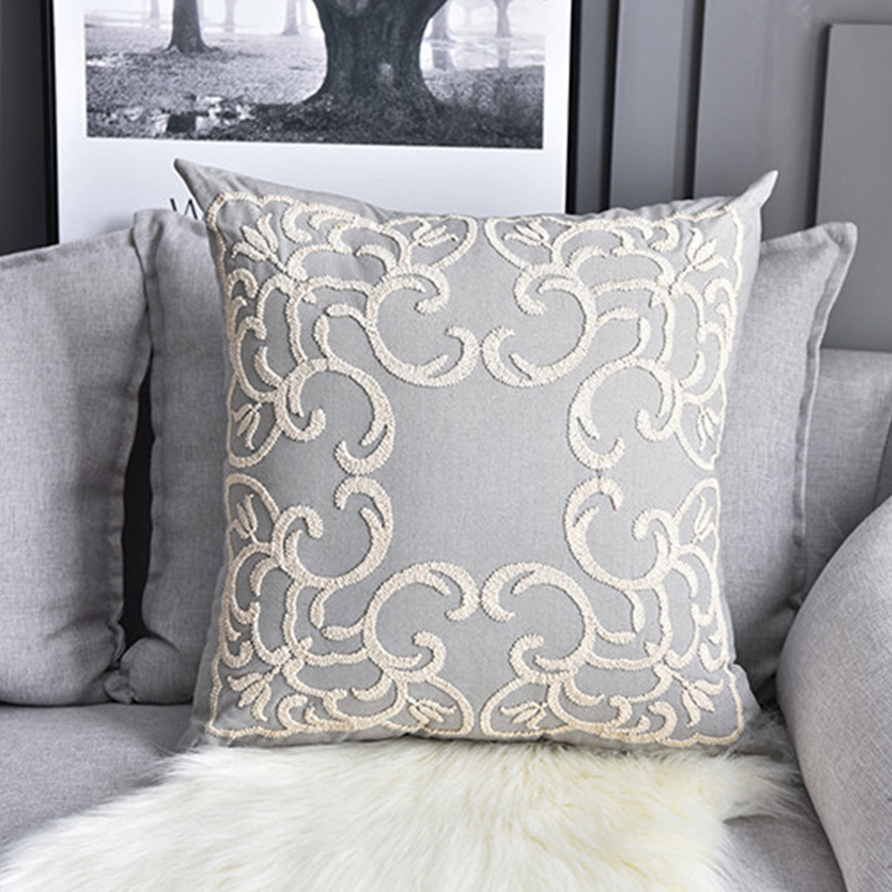 Square <font><b>Pillow</b></font> <font><b>Case</b></font> Linen Cotton <font><b>Pillow</b></font> Cover Solid Color Soft For Sofa Bed Nursery Room Cushion <font><b>Case</b></font> Knitting Pillowcase <font><b>50x50cm</b></font> image