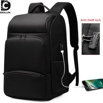 "DC.meilun 2020 NEW TSA Anti-theft Lock Men's Backpack USB Charging 17"" Laptop Bag Waterproof Travel Backpack male mochila a2721"