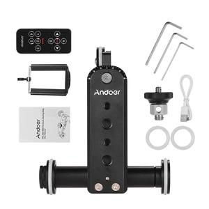 Image 5 - Andoer アルミ合金電動ビデオカメラドリートラックスライダー + 電話移動プロヒーロー 3 7/6/5 一眼レフカメラ