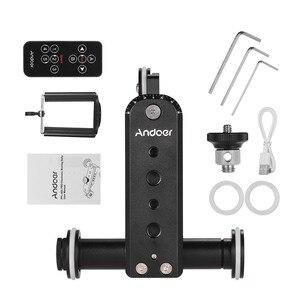 Image 5 - Andoer อลูมิเนียมมอเตอร์วิดีโอกล้อง Dolly TRACK Slider + ผู้ถือโทรศัพท์สำหรับ GoPro HERO 7/6/5 canon กล้อง Nikon SONY DSLR