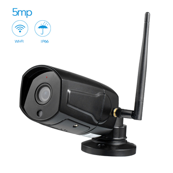 Hd Bullet 5MP Black Ip Camera Wifi Wireless Outdoor Waterproof Infrared Night Vision Motion Detect Cctv Webcam Freeshipping