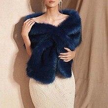 Меховое искусственное зимнее женское платье Болеро Свадебная Шаль Свадебная накидка Свадебные плащи свадебное пальто куртка для вечерней вечеринки