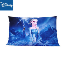 Disney  blue Pillowcases shams 1pcs Cartoon Princess Frozen Elsa Sofia Snow White Couple pink Pillow Cover Decorative gift