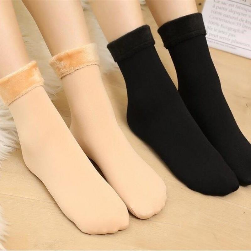 5 Pairs/Lot Classic Women Winter Socks Thicken Wam Thermal Wool Cashmere Soft Floor Sleeping Socks For Men And Women 40g Weight