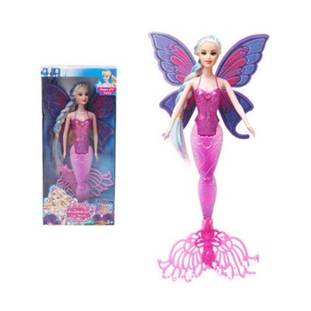 New Fashion Swimming Mermaid Doll Girls Magic Classic Mermaid Doll With Butterfly Wing Toy For Girl's Birthday Gifts mermaid magic