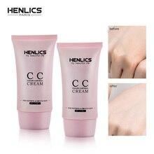 HENLICS CC крем для лица SPF 25+ корейский косметический увлажняющий макияж контроль масла консилер отделка BB база макияж