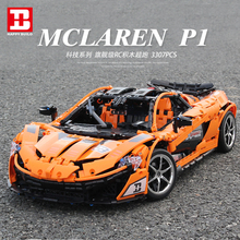 New Super Racing Car Model Mclaren Compatible Technic Voiture Moc-16015 IepinSet 20087 Building Blocks Bricks Toys Gift dhl lepin 20087 legoingly technic toys the moc 16915 orange super racing car set building blocks bricks kids toys car model gift