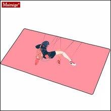 Dywan dziewczyna Anime śliczne podkładka pod mysz Gamer różowa zabawna podkładka pod mysz klawiatura Anime podkładka na biurko Mini Pc podkładka pod mysz biurowa z Overwatch