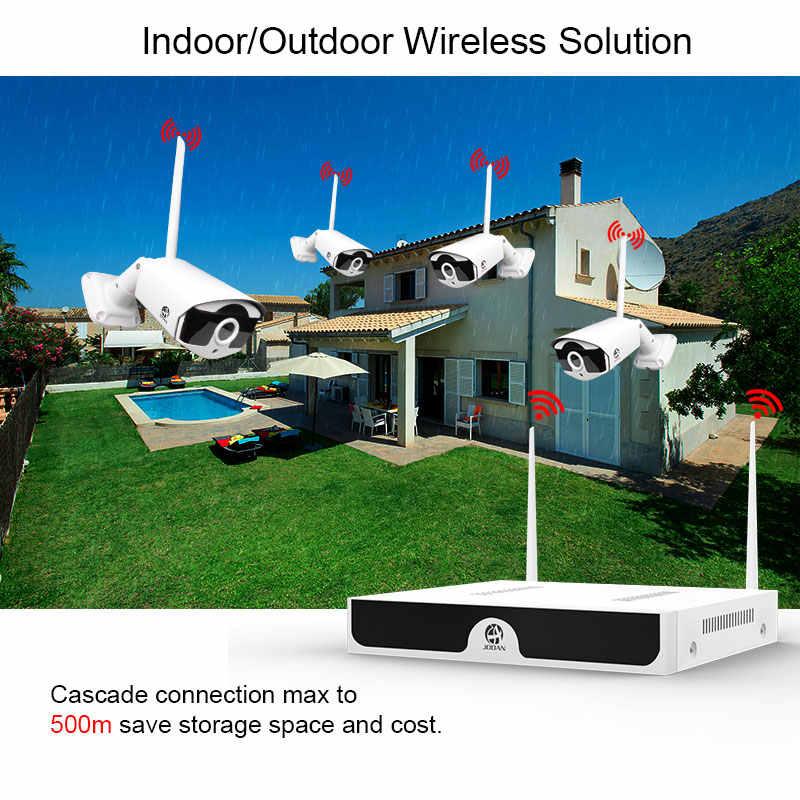 H.265 8CH NVR 3MP kamera bezprzewodowy zestaw monitoringu NVR Wifi System bezpieczeństwa 3MP dźwięk Audio zewnętrzna kamera IP CCTV P2P zestaw nadzoru wideo