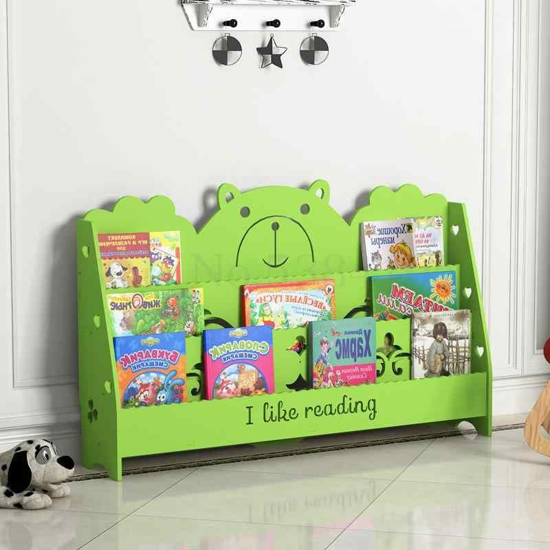 Janela Flutuante Estante simples das Crianças, Bebê Desembarque Estante, Estante de Livros Da Escola Primária, Exibição de Imagem Livro do jardim de Infância