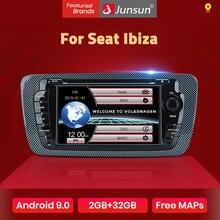 Junsun 2 din 자동차 라디오 자동차 dvd 플레이어 좌석 Ibiza 2009 2010 2011 2012 2013 안드로이드 9.0 GPS 네비게이션 2GB + 32GB 옵션