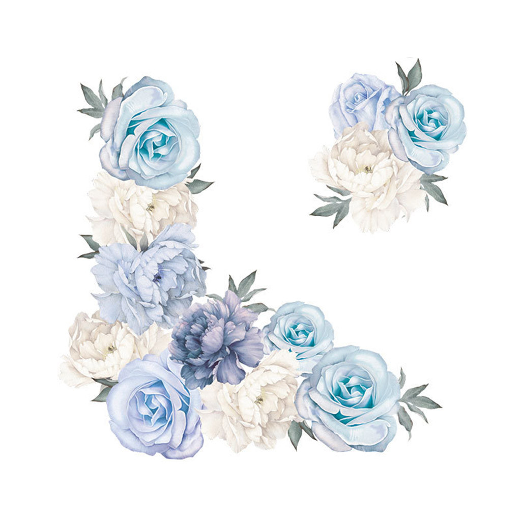 Настенные наклейки с пионами, розами, цветами, художественные наклейки для детской комнаты, Декор для дома, подарок, Бытовые аксессуары для семьи, товары для дома, Прямая поставка