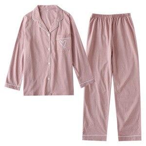 Image 1 - Зимние пижамы для женщин с длинным рукавом и принтом, пижамный комплект, Корейская пижама с длинным рукавом размера плюс, Женский пижамный комплект, тонкие пижамы Mujer