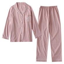 여성을위한 겨울 잠옷 긴 소매 인쇄 잠옷 세트 한국 긴 소매 잠옷 플러스 크기 여성 Pj 세트 얇은 Pijamas Mujer