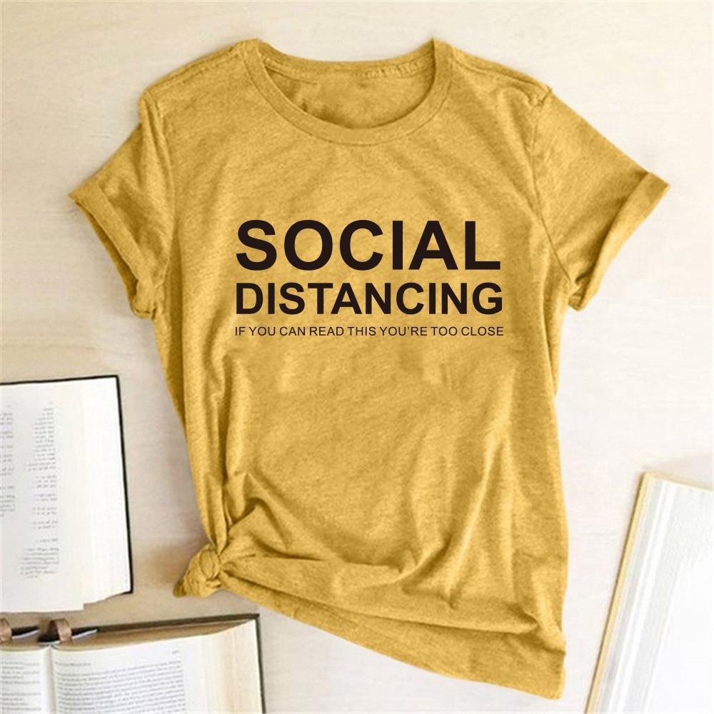 Social Distancing Women T-shirt  1