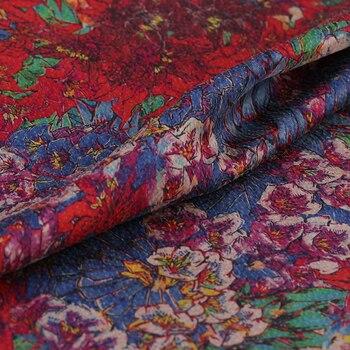 Blooming purple stamen cloud genuine Pearl satin scoped clothing shirt fabric silk