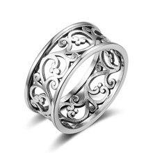 Anel feminino, anel mulheres simples anel vintage flor vazado anéis de videira para mulheres acessórios jewlery festa menina presente