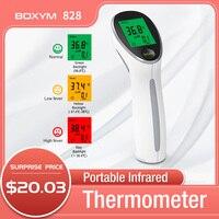BOXYM-termómetro Digital infrarrojo para bebés y niños, medidor de temperatura corporal láser sin contacto, portátil