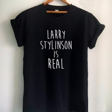 Larry Stylinson Is Real Letters Print Women tshirt Cotton Casual Funny t shirt F