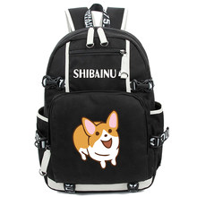Shiba In Women Shoulder Bag Animal Doge Printed Campus Student Large Capacity School Bag Backpacks Travel Rucksacks(China)