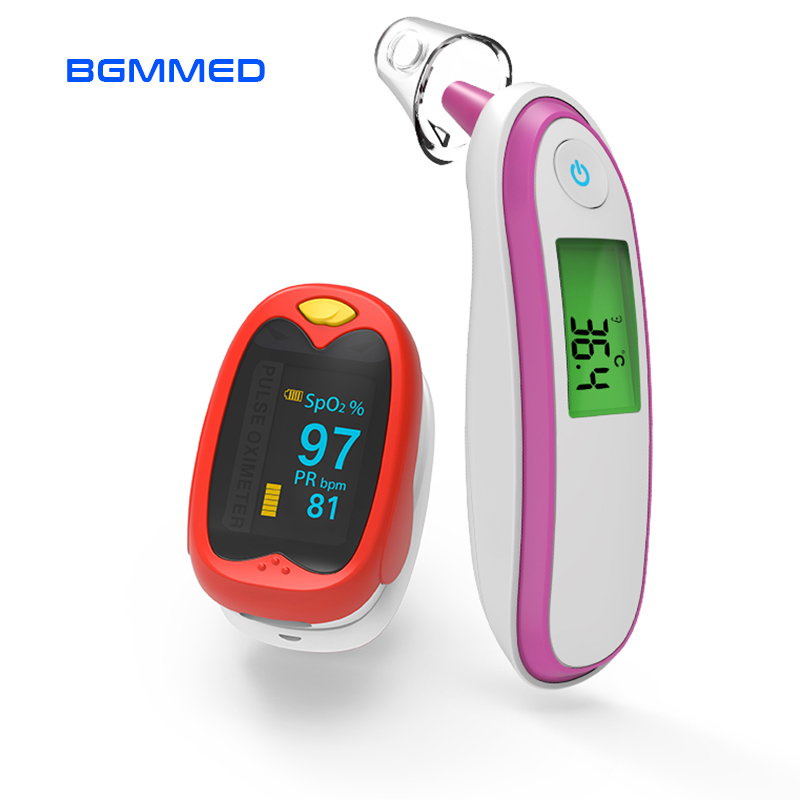 Baby Pulse Oximeter blood oxygen Heart Rate Monitor Infrared Ear Thermometer with kids Pediatric oximetro Saturation