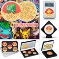 WR Anime Taschen-monster Gold Überzogene Münzen Sammlerstücke mit Münze Halter Japanischen Pokemon Gedenkmünze Geschenk Dropshipping