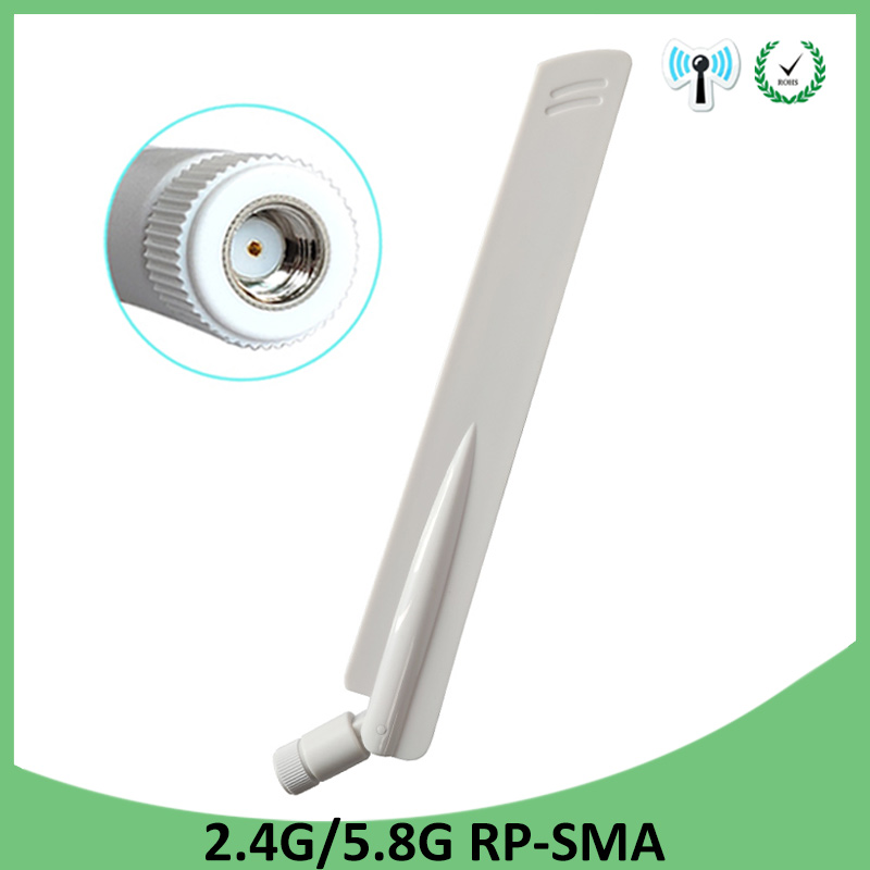 2.4GHz 5GHz 5.8Ghz Antenna 8dBi RP-SMA Connector Dual Band 2.4G 5G 5.8G Wifi Antena Aerial SMA Female Wireless Router