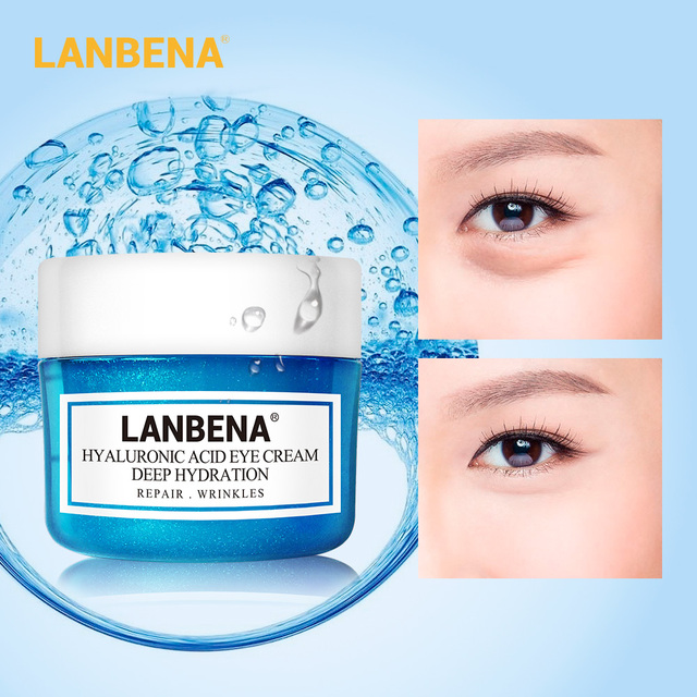 LANBENA Hyaluronic Acid Serum Metabolism Small Molecule Quick Hydration Face Primer Eye Face Cream Elastic Natural Plant Extract 5