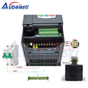 Image 2 - Aubalasti 7.5KW אוויר קירור ציר 380V + מהפך שלב אחד 220V כדי 3 שלב 380V 7.5KW הנוכחי 32A עבור CNC נתב מכונת
