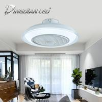 LED Mordern Ceiling Light Fan 80W C010 AC220V Three Speed Fan Lamp Indoor Lighting Ceiling Fan With Remote Control Dimmable