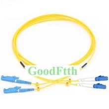 Fiber Patch Cord Jumper Cable E2000-LC LC-E2000 UPC SM Duplex GoodFtth 100-500m fiber patch cord jumper e2000 upc sc upc e2000 sc upc sm duplex goodftth 100 500m