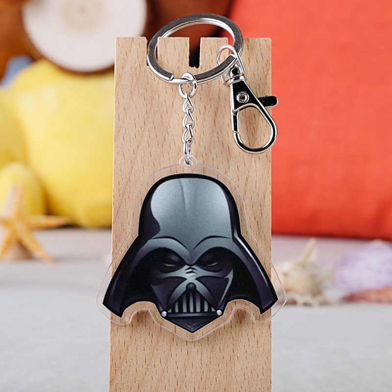 Klasik film Star Wars anahtar zincirleri tutucu uzay gemisi USS intikam çoğaltma savaş gemileri modeli akrilik anahtarlık anahtarlık çocuğun hediye