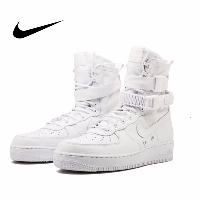 Nike SF AF1 Air Force Original Skateboarding Shoes Breathable Sports Sneakers High Top Basketball Shoes #903270-100
