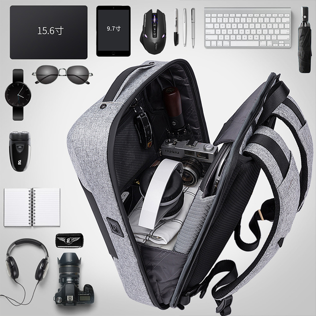 Bange Men Multifunction USB charging Backpack Anti-thief 15.6inch Laptop Backpacks Teenager Fashion Male Mochila Travel backpack 4