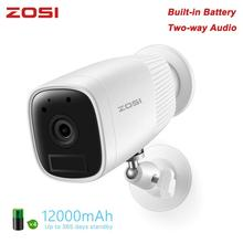 ZOSI 1080P Security IP Wifi Video Led Cam Intercom CCTV Camera Rechargeable Battery with Detector Sensor USB Plug in Door