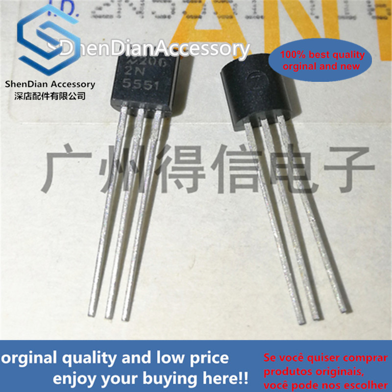 10pcs 100% New And Orginal 2N5551 5551 TO-92  Mplifier Transistors(NPN Silicon)  In Stock
