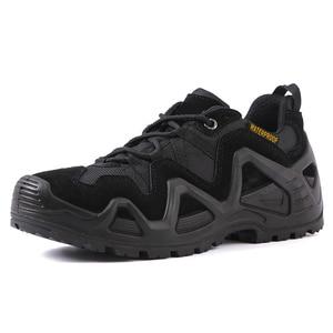 Image 2 - 크기 39 44 야외 남자 방수 하이킹 신발 군사 부츠 전술 부츠 사막 트레킹 신발 남자 buty trekkingowe