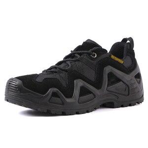 Image 2 - Size 39 44 Outdoor Men Waterproof Hiking Shoes Military Boots for Men Tactical Boots Desert Trekking Shoes Men buty trekkingowe