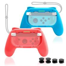 Rocketek 2PCS For Nntend Switch Joystick Grip Handle Joypad Stand Holder Left Right Joy-Con NS Joycon Controller(China)